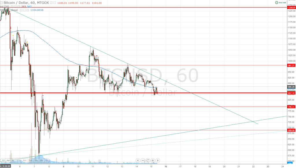 Hourly Bitcoins Chart